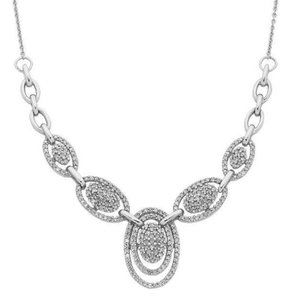 Jewelry - Brilliant cut 3.50 ct small diamonds ladies neckla